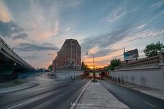 Couch de soleil sur Van Horme (Vernamm2) Tags: street sunset skyline soleil nikon montral explore hdr couch viaduc 2016 vanhorme