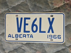 ALBERTA 1966 ---AMATUER RADIO PLATE #VE6LX (woody1778a) Tags: woody licenseplate mytraders fortrade forsale tradelist numberplate woody1778 alpca collector
