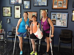 GChicks.1 (cb_777a) Tags: usa accident cancer disabled crutches survivor prosthesis handicapped amputee onelegged