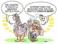 CalcioRenzi (Moise-Creativo Galattico) Tags: vignette satira calcio politica attualit moise giornalismo renzi editoriali moiseditoriali editorialiafumetti