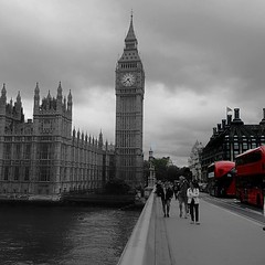 A Summer's Day in London (venesha83) Tags: london londonbus housesofparliament westminsterbridge uk