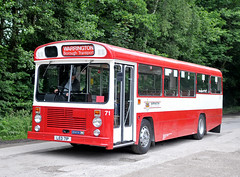 LED71P Warrington borough transport 71 (martin 65) Tags: 19616 public preserved preservation peak park rowsley road transport warrington gathering derbyshire matlock vehicle bus buses