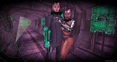 Escape! (Chioma Namiboo Jinn) Tags: moon green robot mechanical sl secondlife cyborg cyber mech humanemotion slphotography secondlifephotography slwindlight secondlifeexploration cybergenix