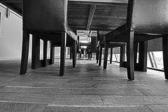Black chair legs (Traveller_40) Tags: bw beine blackandwhite chrisbeutner freilichtme rennbahn riem table tisch walkwithfriends charis desk legs monokchrome noiretblanc