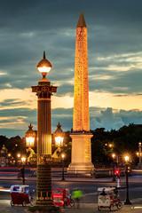 3 Tricycles (Michel Hincker) Tags: sunset architecture column concorde paris france blue sky