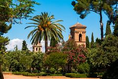 La Alhambra (Puenting1) Tags: sky espaa monument andaluca spain sunny palm cielo alhambra granada palmera laalhambra soleado canonefs18200mmf3556is