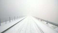 Road to nowhere (vladimirhach) Tags: road winter white snow fog czech