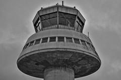 Watch Tower (Santini1972) Tags: barcelona sky tower architecture blackwhite airport arquitectura torre watch cielo aeropuerto nikond5100