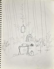 The Latrine (Riversong Artist) Tags: trip camping camp pencil paper georgia sketch moms 1970s bainbridge bkhagar