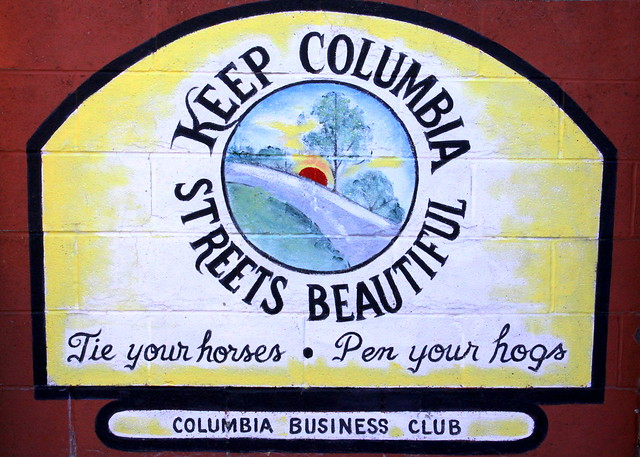 Columbia, TN Mural: Keep Columbia Streets Beautiful