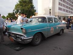 1957 - Chevrolet 210 (Jasonito) Tags: paris classic car russia rally olympus retro oldtimer motor  omsk challenge peking 6th omd the 2016    em5   parispeking beijingparis   panasonic14140mmf4058 omdem5
