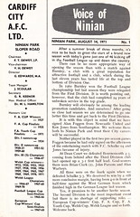 Cardiff City vs Burnley - 1971 - Page 2 (The Sky Strikers) Tags: park city two football official journal cardiff division league bluebirds programme burnley 5p ninian