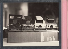 Radiographic Holder Test - SX-70 Family Reunion (DavidVonk) Tags: bw film analog vintage polaroid sx70 conversion 8x10 xray instant modified converted sonar cassette slr680 largeformat holder pq 8106 8506 8507 sx70sonar radiographic impossibleproject