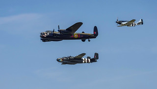 Lancaster, B25 and P51