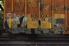 ICH (TheGraffitiHunters) Tags: street art train circle t graffiti colorful paint tracks spray yme boxcar graff ich freight ichabod benched benching