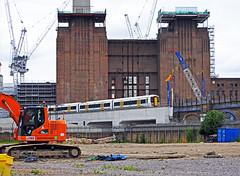 A pleasant day cycling along the Thames (delticfan) Tags: emu battersea powerstation batterseapowerstation southernregion