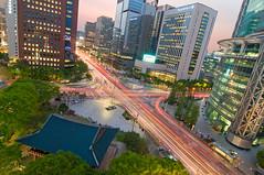 Jonggak magic hour (StavvioD) Tags: birthday longexposure sunset urban ni