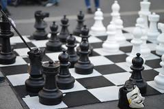 Giant chess challenge (WindUpDucks) Tags: park nyc newyork giant square manhattan union chess unionsq