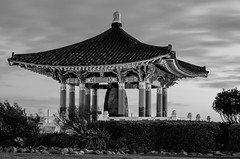 koreanbell_longexp-1 (rikiomgawa) Tags: longexposure bw monochrome korean sanpedro lightroom friendshipbell 2013 d7000
