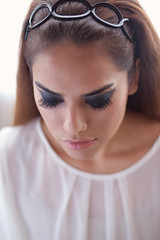 Jazmin (Susan Holstein) Tags: portrait fashion 60s eyelashes editorial beautyshot styling 60sshoot