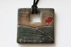 Polymer Clay Pendant (Monika Polak) Tags: flower art necklace beads handmade jewelry jewellery polymerclay fimo clay pendants polymer monikapolak