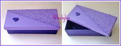 Caixa craquelê (artesbybax - Carmen) Tags: caixa madeira mdf lilás craquelê