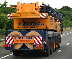 Ainscough mobile crane June 2013 (Bristol Viewfinder) Tags: mobile cranes bmw trucks unusual load baldwins cartransporter ainscough sugarich