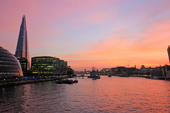 Sunset (st_hart) Tags: bridge sunset london beautiful shard