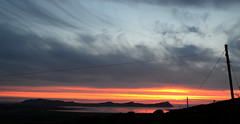 Driving home (Barbara Walsh Photography) Tags: ireland sunset sky colour water landscape kerry hills burning threesisters dinglepeninsula