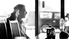 After the Order (BluMaan) Tags: show life travel blue portrait blackandwhite bw holiday man guy green nature photography restaurant photo nikon order think picture eat wait ponder 50mm joseph d7100 andrews blumaan 18g
