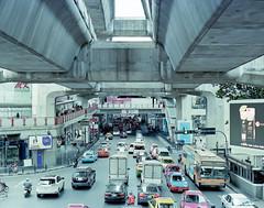 Bangkok traffic (GMilo) Tags: thailand pentax kodak bangkok 6x7 portra