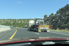Oversize Load (twm1340) Tags: arizona tractor phoenix truck shot diesel driveby august az flagstaff trailer windshield bigrig i17 2013
