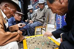 Tibetan Game (Leonid Plotkin) Tags: china man game men asia oldman tibet amdo tibetan leisure boardgame oldmen passtime qinghai tongren repkong