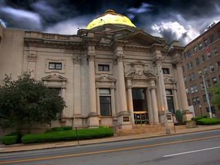Savings Bank of Utica ~ Utica Ny ~ Gold Dome ~ Historical Landmark