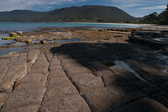 Lines in the Rock (MrBlackSun) Tags: neck coast nikon oz australia tasmania aussie tas tasman tassie peninsula d300 tessellatedpavement eaglehawkneck tasmanpeninsula eaglehawk nikond300 southtasmania