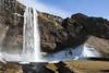 Seljalandsfoss, Ísland (Stefan van Poppel) Tags: mountain snow ice water landscape geotagged waterfall iceland 1855 canonefs1855mm seljalandsfoss ísland canonefs1855 canon1855mm 400d canoneos400d