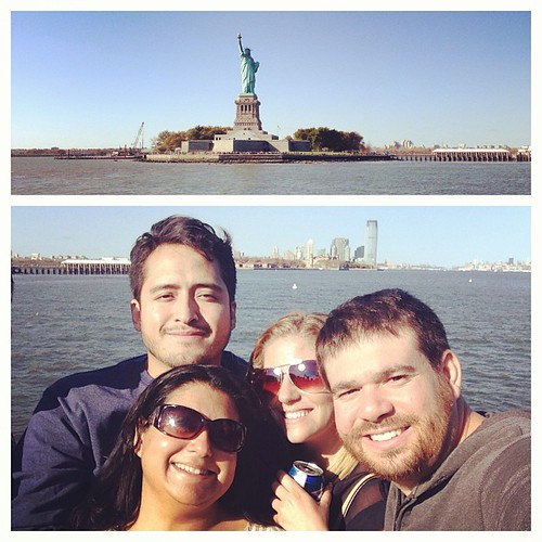 Passing the Statue of Liberty! #WRNY