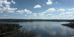 (Josh W. Cooper) Tags: blue lake green water argentina clouds sanluis reflect flickrandroidapp:filter=none