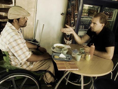 Abraham Hablando con Cesar