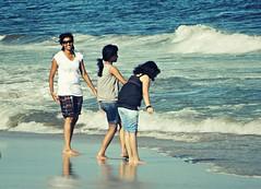 Elliot beach (Sougata2013) Tags: blue ladies girls sea india beach water fun enjoy chennai tamilnadu bayofbengal elliotbeach seabeach