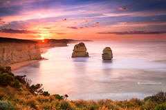 Great Ocean Road (SoniaMphotography) Tags: ocean travel sunset sea sunlight mist holiday sunrise landscape scenery soft victoria lookout greatoceanroad gibsonsteps