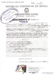 Certidão Nascimento Guilherme 2001