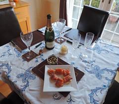 Wild smoked salmon and Champagne (Dun.can) Tags: christmas xmas champagne olives judy smokedsalmon melton meltonmowbray  xmas2013 fortnummmason