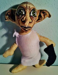 Dobby (Big-Eyed) Tags: toy stuffed doll handmade harrypotter plush elf dobby flickrandroidapp:filter=none