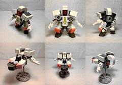 Astromech (Transforming collage) (Jandyman) Tags: orange white brick collage toy robot construction ship lego space mini mecha transform mech moc