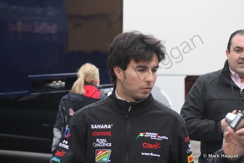 Sergio Perez at Formula One Winter Testing 2014