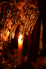 Fire and ice (jscollins7) Tags: ice frozen candle flame icicles