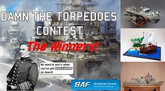 BrickArms Forums Damn the Torpedoes Contest - Announcing the Winners! (enigmabadger) Tags: boats lego fig ships guns accessories minifig battleship custom weapons minifigure brickarms