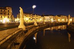 Prato della Valle by night (tampurio) Tags: city light italy water night mirror italia cityscape place valle ita della prato padova padua veneto