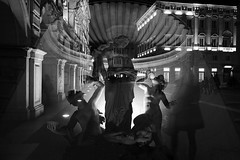 know your saints (i k o) Tags: street sculpture statue night doubleexposure silhouettes experiment surreal fujifilm greekmythology trieste divinity piazzaunitditalia tethis xe1 fujinonxf18mmf2r